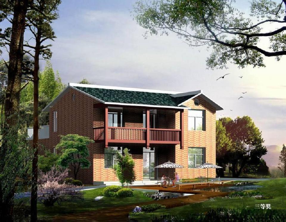 现代农村房屋平面设计效果图